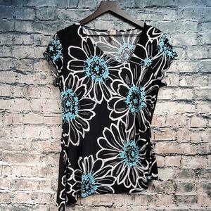 Susan Lawrence | Asymmetrical Floral Top